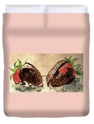 We're Great Together Valentine Duvet Cover by Angela Davies