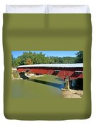 West Union Covered Bridge 2 Duvet Cover by Marty Koch