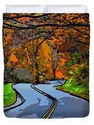West Virginia Curves 2 Line Art Duvet Cover by Steve Harrington