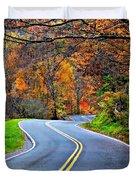 West Virginia Curves 2 Duvet Cover by Steve Harrington