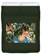 What Boys Are Made Of - Trees And Music Duvet Cover by Ella Kaye Dickey