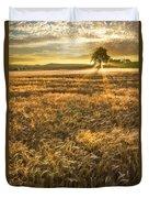 Wheat Fields Of Switzerland Duvet Cover by Debra and Dave Vanderlaan