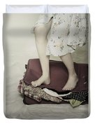 When A Woman Travels Duvet Cover by Joana Kruse