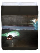 When The Night Start To Walk Listen With Music Of The Description Box Duvet Cover by Lazaro Hurtado