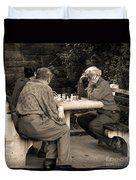 Where Is Bobby Fischer Duvet Cover by Madeline Ellis