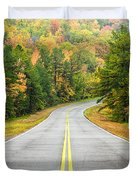 Where this Road will Take You - Talimena Scenic Highway - Oklahoma - Arkansas Duvet Cover by Silvio Ligutti