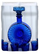 Whiskey Decanter And Shot Glasses Duvet Cover by Barbara Griffin