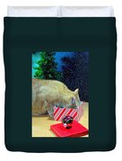 Whiskey's Present Duvet Cover by Diana Angstadt