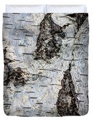 White Birch Abstract  Duvet Cover by Heidi Smith