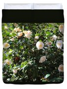 White Camellias Duvet Cover by Carol Groenen
