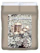 White Christmas Duvet Cover by Mo T