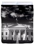 White House Sunrise B W Duvet Cover by Steve Gadomski