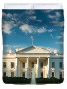 White House Sunrise Duvet Cover by Steve Gadomski