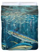 White Marlin original oil painting 24x36in on canvas Duvet Cover by Manuel Lopez
