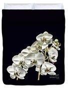 White Orchids Duvet Cover by Tom Prendergast