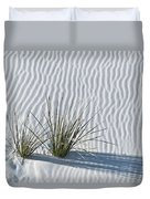 White Sands Grasses Duvet Cover by Steve Gadomski