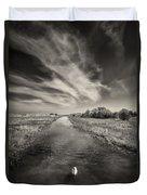 White Swan Duvet Cover by Dave Bowman