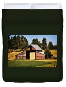 Whitefish Barn Duvet Cover by Marty Koch