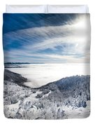 Whitefish Inversion Duvet Cover by Aaron Aldrich