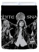 Whitesnake No.01 Duvet Cover by Caio Caldas