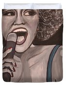 Whitney Houston Duvet Cover by Kate Fortin