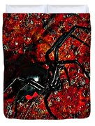 Wicked Widow - Rouge Duvet Cover by Al Powell Photography USA