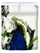 Wild Horse Duvet Cover by Angel  Tarantella