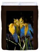 Wild Iris Duvet Cover by Robert Bales