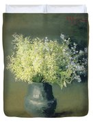 Wild Lilacs And Forget Me Nots Duvet Cover by Isaak Ilyich Levitan