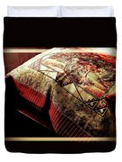 Wild Mustangs On A Quilt Duvet Cover by Barbara Griffin