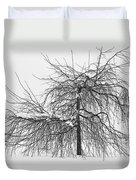Wild Springtime Winter Tree Black And White Duvet Cover by James BO  Insogna