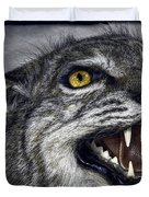 WILDCAT FEROCITY Duvet Cover by Daniel Hagerman