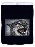 Wildcat Ferocity Duvet Cover by Daniel Hagerman