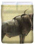 Wildebeest Duvet Cover by James W Johnson