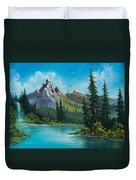 Wilderness Waterfall Duvet Cover by C Steele