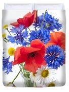 Wildflower Bouquet Duvet Cover by Elena Elisseeva