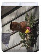 Williamsburg Bird Bottle 1 Duvet Cover by Teresa Mucha
