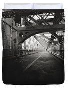 Williamsburg Bridge - New York City Duvet Cover by Vivienne Gucwa