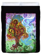 Winding Tree Duvet Cover by Genevieve Esson