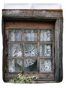 Window At Old Santa Fe Duvet Cover by Kurt Van Wagner