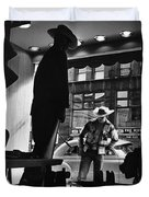 Window Shopping Cowboy Duvet Cover by Photo Researchers