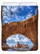 Window Through Time Duvet Cover by Dustin  LeFevre