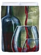 Wine For Two Duvet Cover by Lisa Owen-Lynch