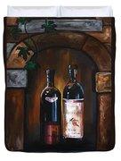 Wine Trio Duvet Cover by Danise Abbott