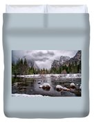 Winter At Valley View Duvet Cover by Cat Connor