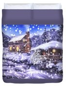 Winter Creek Duvet Cover by Mo T