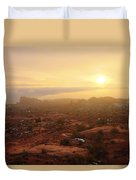 Winter Desert Glow Duvet Cover by Chad Dutson