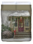 Winter - Dreaming Of A White Christmas Duvet Cover by Mike Savad