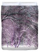 Winter Faeries Duvet Cover by Barbara McMahon