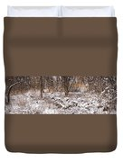 Winter Forest Panorama Duvet Cover by Elena Elisseeva
